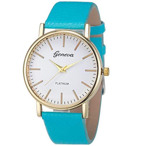 TianWlio Armbanduhren Damen Mode Einfache Freizeit Frauen Analog Leder Quarz Armbanduhr Uhren