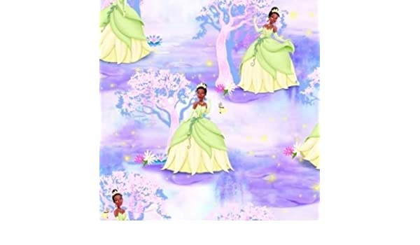 Fat Quarter Disney Princess Tiana and Frog Cotton Quilting Fabric 50 x 55cm