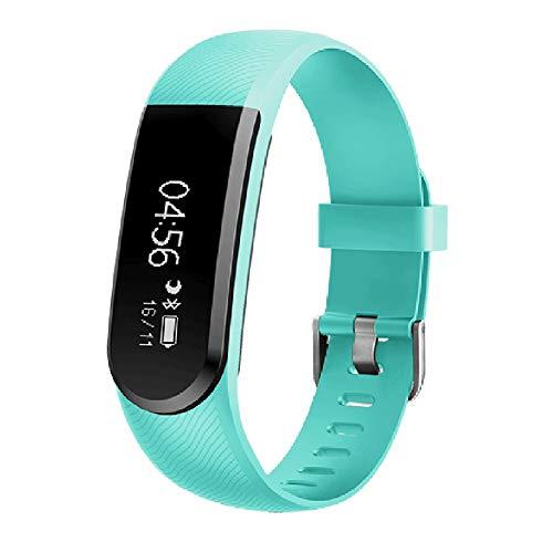 UMGZY Fitness Tracker Pulsera Inteligente Actividad Reloj Monitor de Ritmo cardíaco Podómetro Monitor de sueño Llamada Recordatorio de SMS, Cámara de música Control Remoto,Green