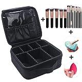 Best PREMIUM Frullatori - MLMSY Travel Cosmetic Bag Makeup Train Case Black Review