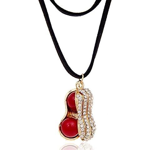 Erica accesorios de maní de la perla del collar pendiente / Harajuku / collar / cadena de clavícula , red pearl