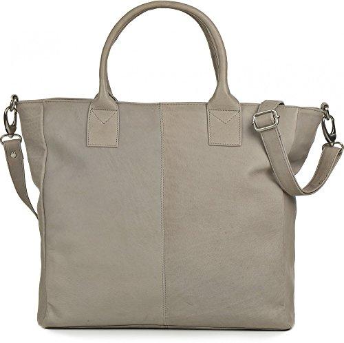 PHIL+SOPHIE, Damen Handtaschen, Schultertaschen, Umhängetaschen, Shopper, 44 x 32,5 x 10 cm (B x H x T), Farbe:Hellgrau