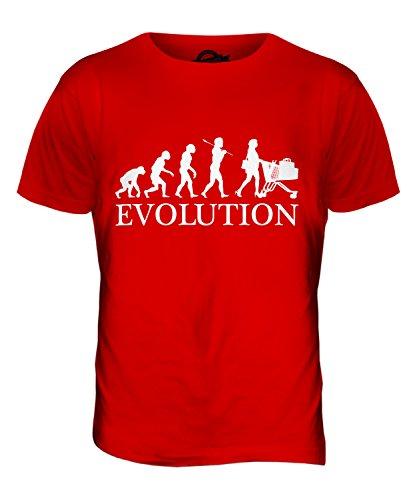 CandyMix Shopping Evoluzione Umana T-Shirt da Uomo Maglietta Rosso