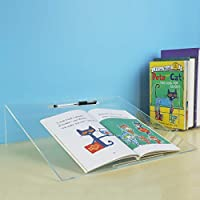 HIIMIEI Acrylic Writing Slope with Pen Holder, for Children Write Paiting, Stable and Transparent