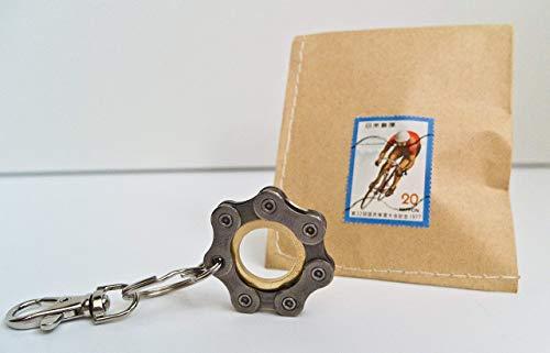 Fahrrad Schlüsselanhänger Vélo Bike Bicycle Keychain/Upcycling Design Anhänger Rennrad Cyclist fixie Mountainbike BMX (Unter Fixie-bikes 150)