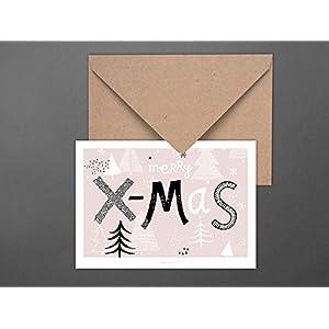 Weihnachtskarte / Rosa X-Mas