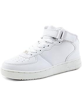 Trendige Unisex Damen Kinder Herren Schnür Mid Top Sneaker Freizeit Sport Turn Schuhe