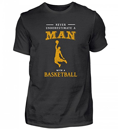 r Underestimate Man | Basketball Team Korb Ball-Sport Mannschaft Hobby - Herren Shirt ()