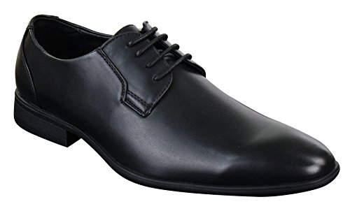 Herrenschuhe Blau Braun Schwarz Formell Schnürsenkel Italienisches Design Schwarz