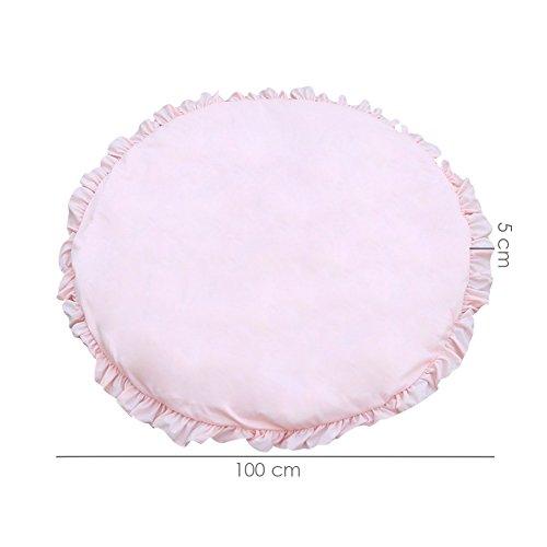 Baby-Spiel-Matte, Baumwolle, runder Teppich Teppiche Crawling Decke zu Boden Teppich, für Kinder