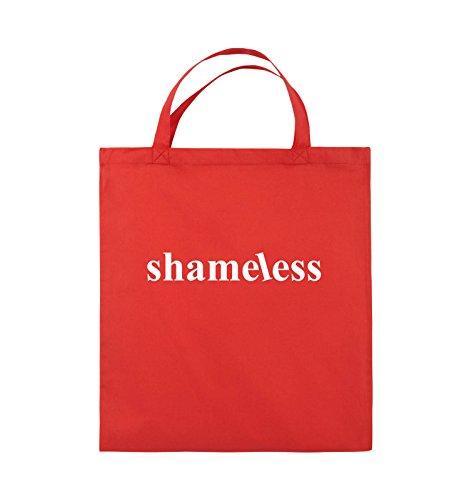 Comedy Bags - shameless - LOGO - Jutebeutel - kurze Henkel - 38x42cm - Farbe: Schwarz / Pink Rot / Weiss