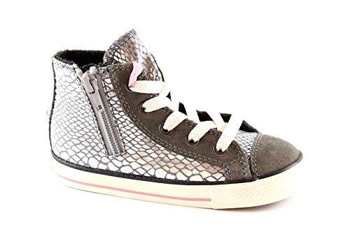 Converse - All Star Hi Side Zip Leat/Sued, Sneaker alte Unisex - Bambini Grigio