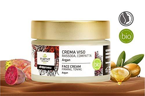 Natyr Bio Gesichtscreme mit Arganöl, Aloe Vera und Hyaluronsäure 50 ml - Feuchtigkeitscreme gegen...