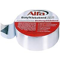 Aluminium Butylklebeband 75mm x 10m, Dichtungsband wetterfest, für dauerhaftes Abdichten von Dachanschlüssen, Nähten, Stößen und Wohnwägen, Alu- kaschiert