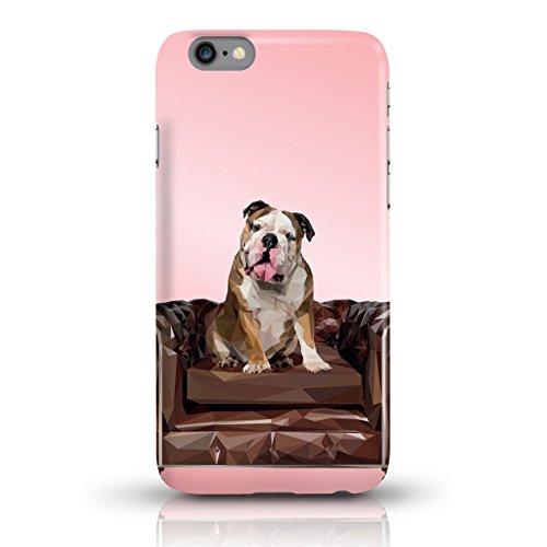 "JUNIWORDS Handyhüllen Slim Case für iPhone 6 / 6s - Motiv wählbar - ""Anker Design 1 Dunkelblau"" - Handyhülle, Handycase, Handyschale, Schutzhülle für Ihr Smartphone Bulldogge Rosa"