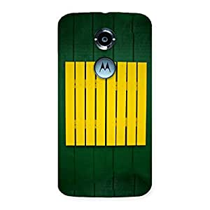 Delighted Green Squares Yello Back Case Cover for Moto X 2nd Gen