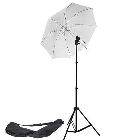 DynaSun W968S Kit d'éclairage pour Studio Photo/Vidéo avec Trépied + Douille + Parapluie et Sac pour Flash Cobra Esclave
