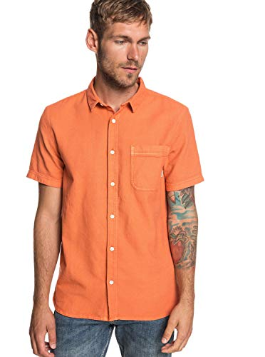 Quiksilver - Camisa Manga Corta - Hombre - L - Naranja