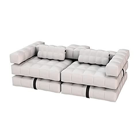 Pigro Felice Modul'Air Luxury Inflatable Sofa Set, matte weiß, 234 x 117 x 72 cm, 921986-MWHITE