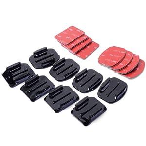 XCSOURCE® Kit accessoires pour Casque 4x fixation sur surface plate 4x fixation sur surface incurvée + adhésif 3M Pour Gopro Hero 1 2 3 3+ 4 OS86