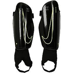 Nike Youth Charge 2.0 Tobillera, Unisex niños, Negro/Lima (Black/Black/Volt), S