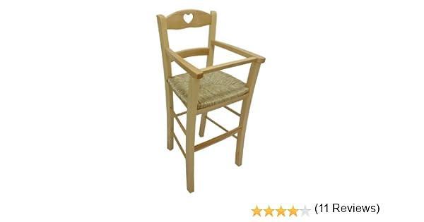 Sediolone sgabello sedia seggiolone bimbo lusso in legno naturale