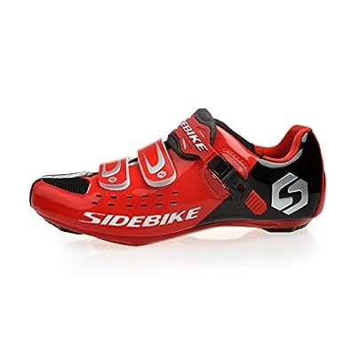 WIN Rouge Chaussures vélo route de route Homme Taille 43(longueur: 27.5cm)