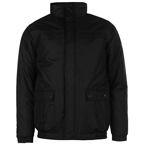 Pierre Cardin giacca imbottita da uomo nero giacche Coats Outerwear, Black, L