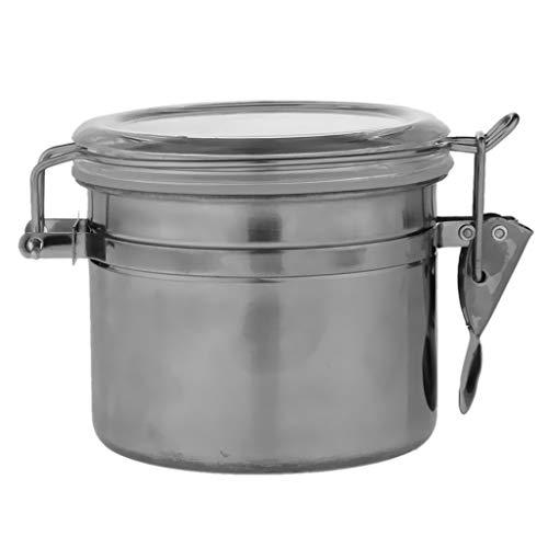 P Prettyia Kaffeedose, Edelstahl Vorratsdosen Teedose Metall Kaffeebehälter Vakuum Dose - A
