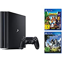 PlayStation 4 Pro - Konsole (1TB) + Horizon: Zero Dawn + Crash Bandicoot N.Sane Trilogy