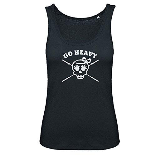 GO HEAVY Mujer Sport Tank Top Girly Skull Negro Gr. M