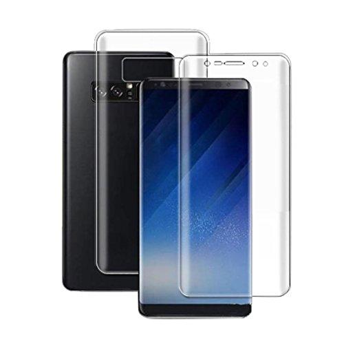 Preisvergleich Produktbild Fulltime® PET-Schutzfolie für das Samsung Galaxy Note 8, weiche Vorderseite + Rückseite Full Coverage Explosionsgeschützte Film-Schirm-Schutz für neue Note 8, Klar
