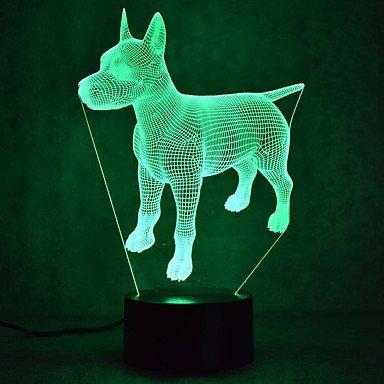 HPBN8 3D Hund Illusions LED Lampen Tolle 7 Farbwechsel Acryl berühren Tabelle Schreibtisch-Nacht licht mit USB-Kabel für Kinder Schlafzimmer Geburtstagsgeschenke Geschenk