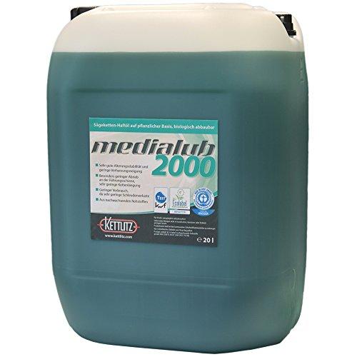 """Sägekettenöl Bio 20 Liter KETTLITZ-Medialub 2000 """"Blauer Engel"""" nach neuester RAL-UZ 178"""