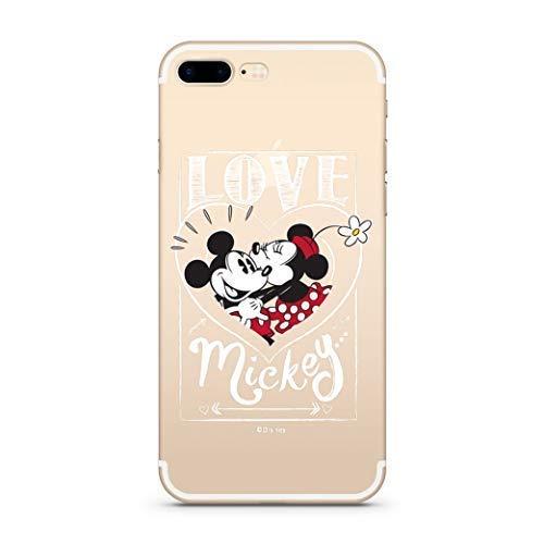 Finoo Hülle für iPhone 7 Plus / 8 Plus - Disney Handyhülle mit Motiv und Optimalen Schutz TPU Silikon Tasche Case Cover Schutzhülle - Mickey Mouse Love