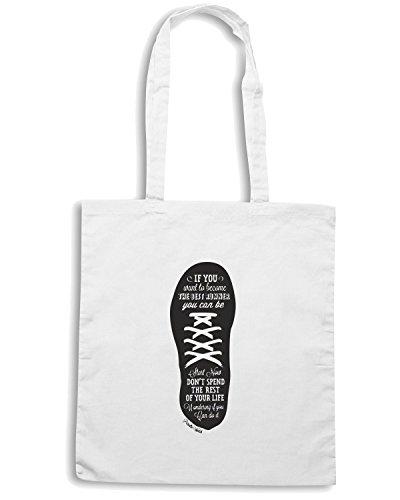 T-Shirtshock - Borsa Shopping CIT0192 Running Bianco