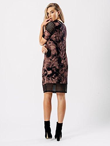 Damen New York Eagle Print Oversized Top EUR Größe 36-42 Rosa / Schwarz
