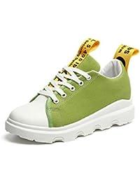 Sneakers zapatos de mujer aumento casual coreano estudiante silvestre calzado casual, verde, 40