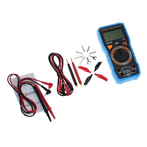 F Fityle Digital Multimeter Dmm Voltmeter Amperemeter Ohmmeter Stromwiderstand Tester mit Testleitungen - Blau Dmm-digital-multimeter