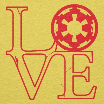 TEXLAB - Empire Love - Herren T-Shirt Gelb