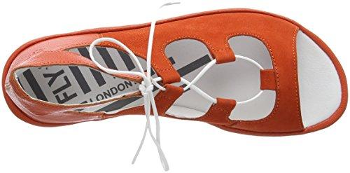 Aperti Londra Donne Sandali Papavero arancione Volare Mura859fly Arancione qf4FHH