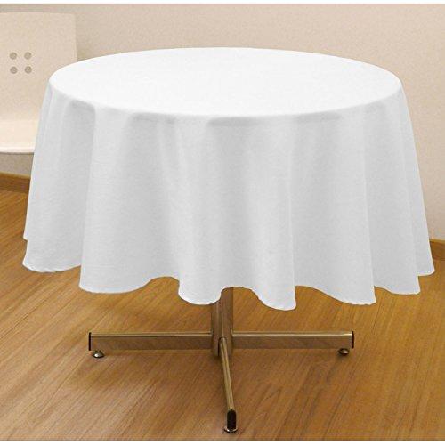 Mantel antimanchas redondo 180 cm ALIX blanco