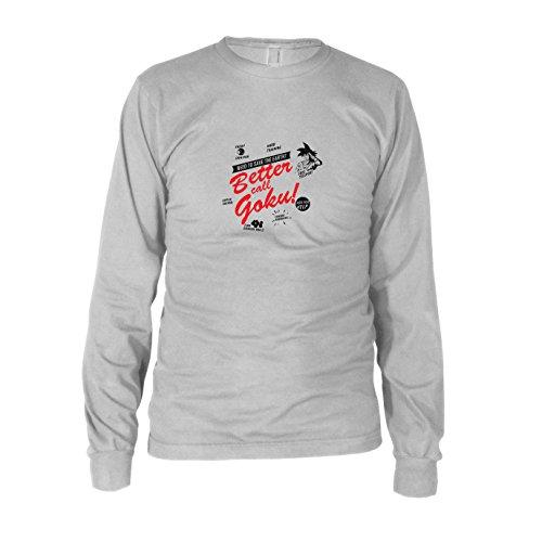 DBZ: Better Call Goku - Herren Langarm T-Shirt, Größe: XXL, Farbe: weiß