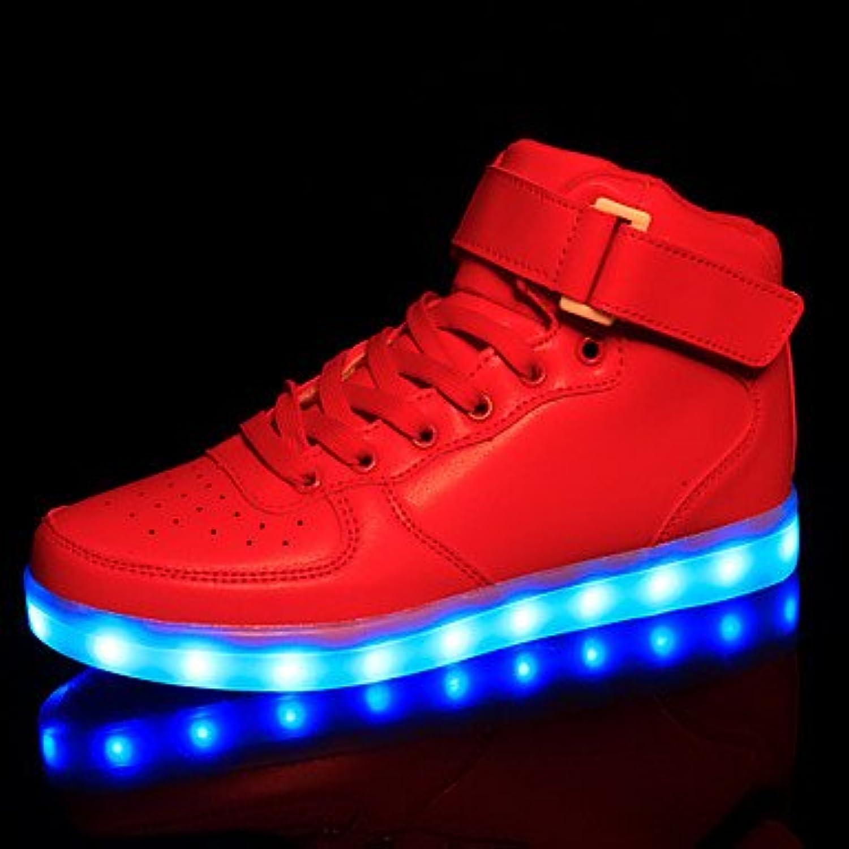 Aemember Luz LED zapatos, los muchachos' zapatos atléticos casual zapatillas sintético/Negro/Rojo/blanco,rojo,...