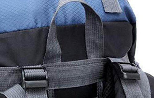 Fabelhaft Einzigartige Mutter Package Design Bergsteigen Tasche 55L Große Kapazitäts-Camping Wandern Bag Blue