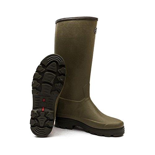 Le Chameau Chasseur Hommes Wellington Boots Vert Vierzon 43 Calf