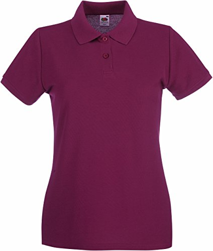 Fruit of the loom lady-fit premium polo 63–030–0 Rouge - Bordeaux