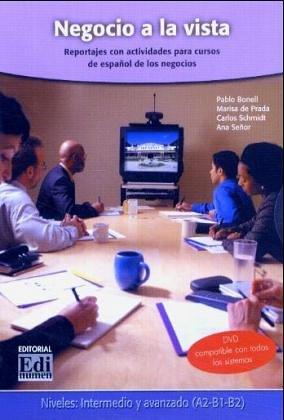 Negocio a la vista: Reportajes con actividades para cursos de español de los negocios/DVD