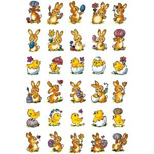 (Herma 10 x Sticker Decor Kleine Hasen + Küken VE=3 Blatt)