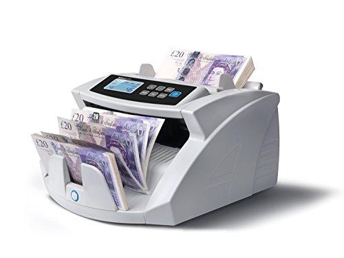 Safescan 2210 Automatischer Banknotenzähler mit UV Falschgelderkennung Zählt und prüft 1000 Scheine pro Minute, grau
